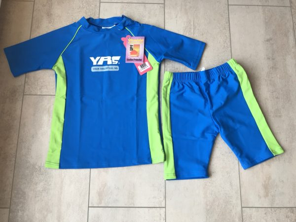 UV- Kinder zwemsetje - Unisex (blauw)-0