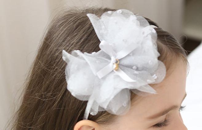 Luxe Haarband Bloom (hand Gemaakt) - Licht Roze-1103