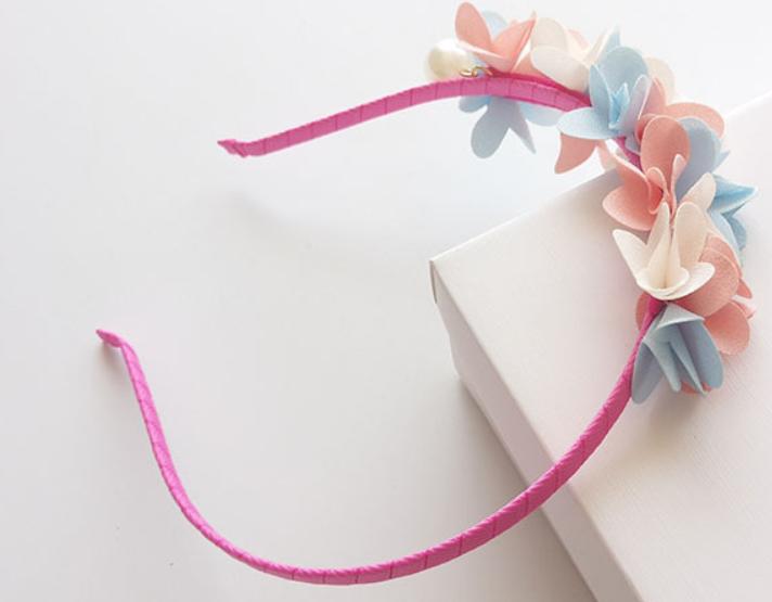 Luxe Haarband  Bloemen (hand Gemaakt)