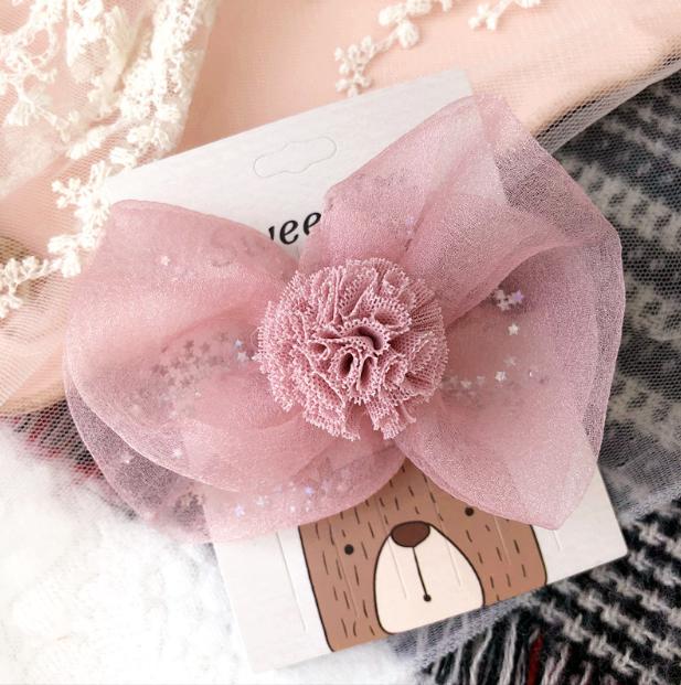 Luxe Haarclip Bloemen (hand Gemaakt) - Roze Kleur-1032