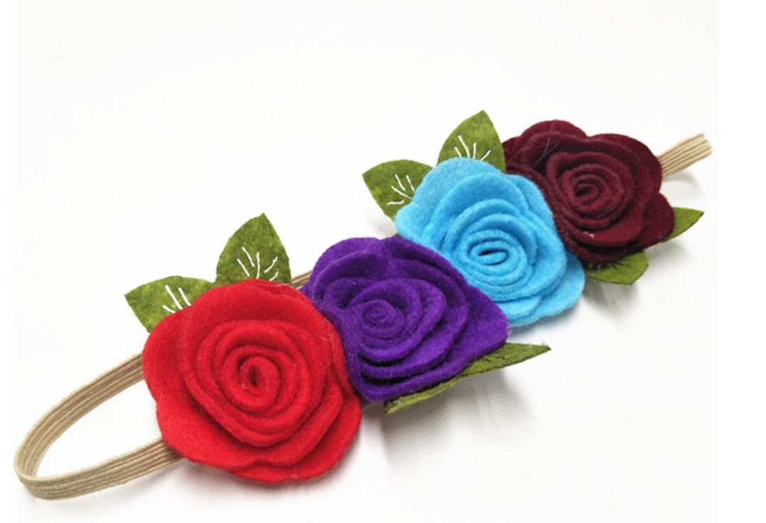 Elastisch Haarbandje Bloom (hand Gemaakt)-1035
