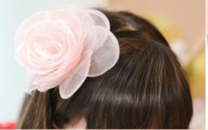 Luxe Haarband  Bloem (hand Gemaakt)