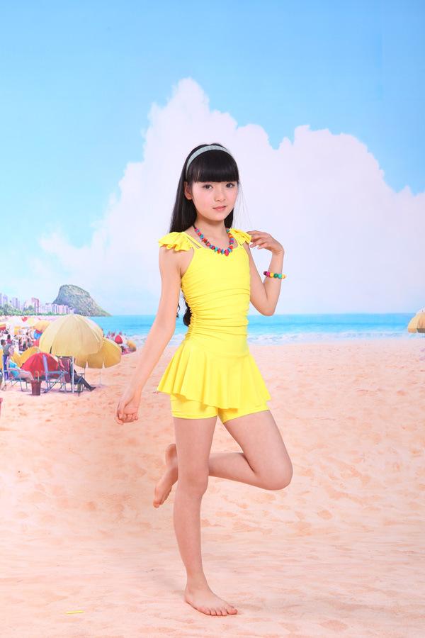 Meisje Zwempak (geel)